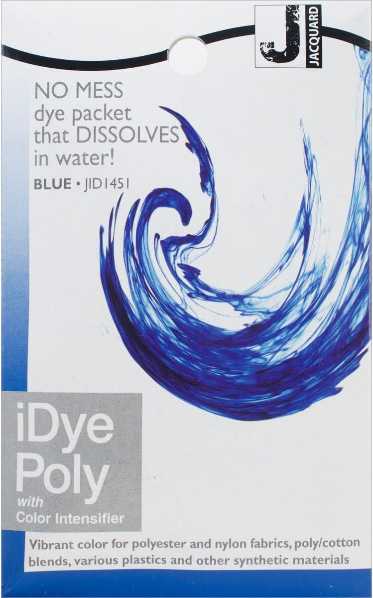 depot Jacquard Ipoly Fabric 14g-Blue Atlanta Mall Dye