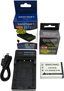 str FUJIFILM 富士フィルム NP-95 / RICOH リコー DB-90 互換バッテリー [純正充電器で充電可能 残量表示可能 純正品と同じよう使用可能]& USB 充電器 カメラ バッテリー チャージャー [純正互換電池共に充電可能] の2点セット FinePix F30 / F31fd / REAL 3D W1 / REAL 3Dシリーズ / X100 / X100S / X100LE / X100T / X30 / XF10 / X70 / X-S1 / Xシリーズ / GXR / GXR P10 / GXR Mount A12
