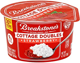 Breakstones Cottage Doubles Strawberry Cottage Cheese, 4.7 Ounce -- 12 per case.
