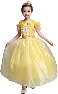 Dressy Daisy Girls' Princess Belle Costumes Princess Dresses Halloween Fancy Dress