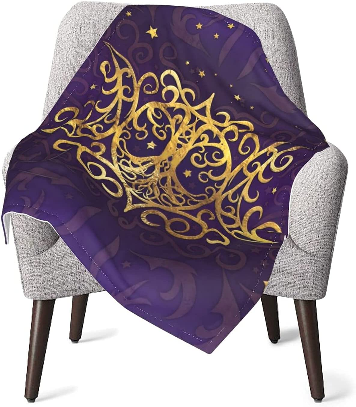 Gold Triple Moon Manufacturer regenerated New Shipping Free Shipping product Goddess Warm Blankets Air Throw Cozy Conditioni