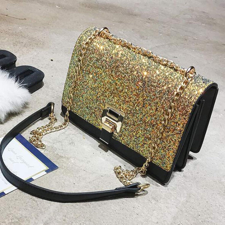 HOUYAZHAN Umhängetasche Fashion Party Party Party Tasche Diagonale Tasche Damen PU-Leder (Farbe   Gold) B07NV4LL3H  Qualitätsservice 8f736a
