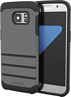 S7 Edge Case, Crave Strong Guard Protection Series Case for Samsung Galaxy S7 Edge - Slate