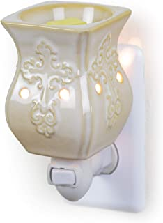 Dawhud Direct Plug-in Fragrance Wax Melt Warmers (Antique White Ceramic Accent)