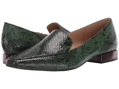 Naturalizer Clea (Forest Green Snake Print Leather) Women
