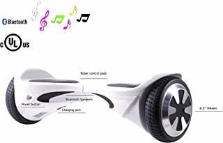 SAVA X1L- UL Certified 2272 Self BalancingScooter/Hoverboard with Bluetooth Speaker LED Lights Free Carry Case Firesafe Battery