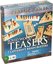 Solid Wood Brain Teasers - 7 Different Brain Busters