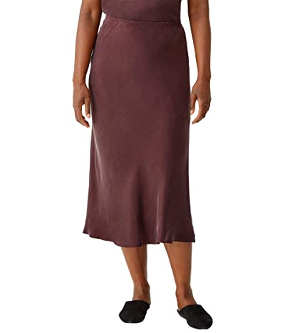 Eileen Fisher Bias Skirt (Cassis) Women