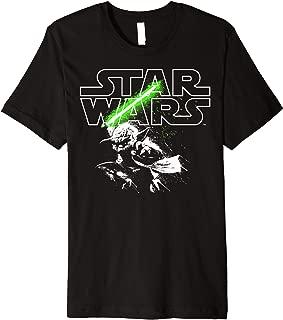 Yoda Lightsaber Logo Premium T-Shirt