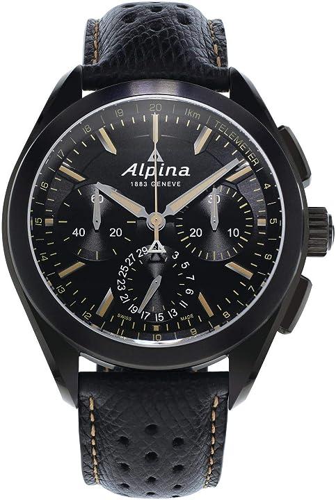 Orologio militare - alpina geneve alpiner 4 flyback  - cronografo automatico uomo AL-760BBG5FBAQ6
