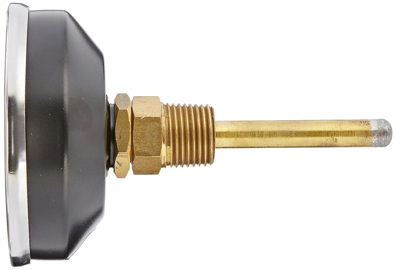 0//100 psi Range Bronze Internals Plastic Lens PIC Gauge TRI-RC-3.25R-3.00-E 3-1//4 Dial Size Commercial Tridicators with Black Steel Case Stem Length 3 inches 1//2 Male NPT Connection Size