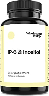 IP-6 & Inositol by Wholesome Story | 240 Vegetarian Capsules | 120 Servings | Antioxidant & Immune Support | Vegan & Glute...