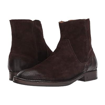 John Varvatos Collection Moccasin Zip Boot (Dark Brown) Men