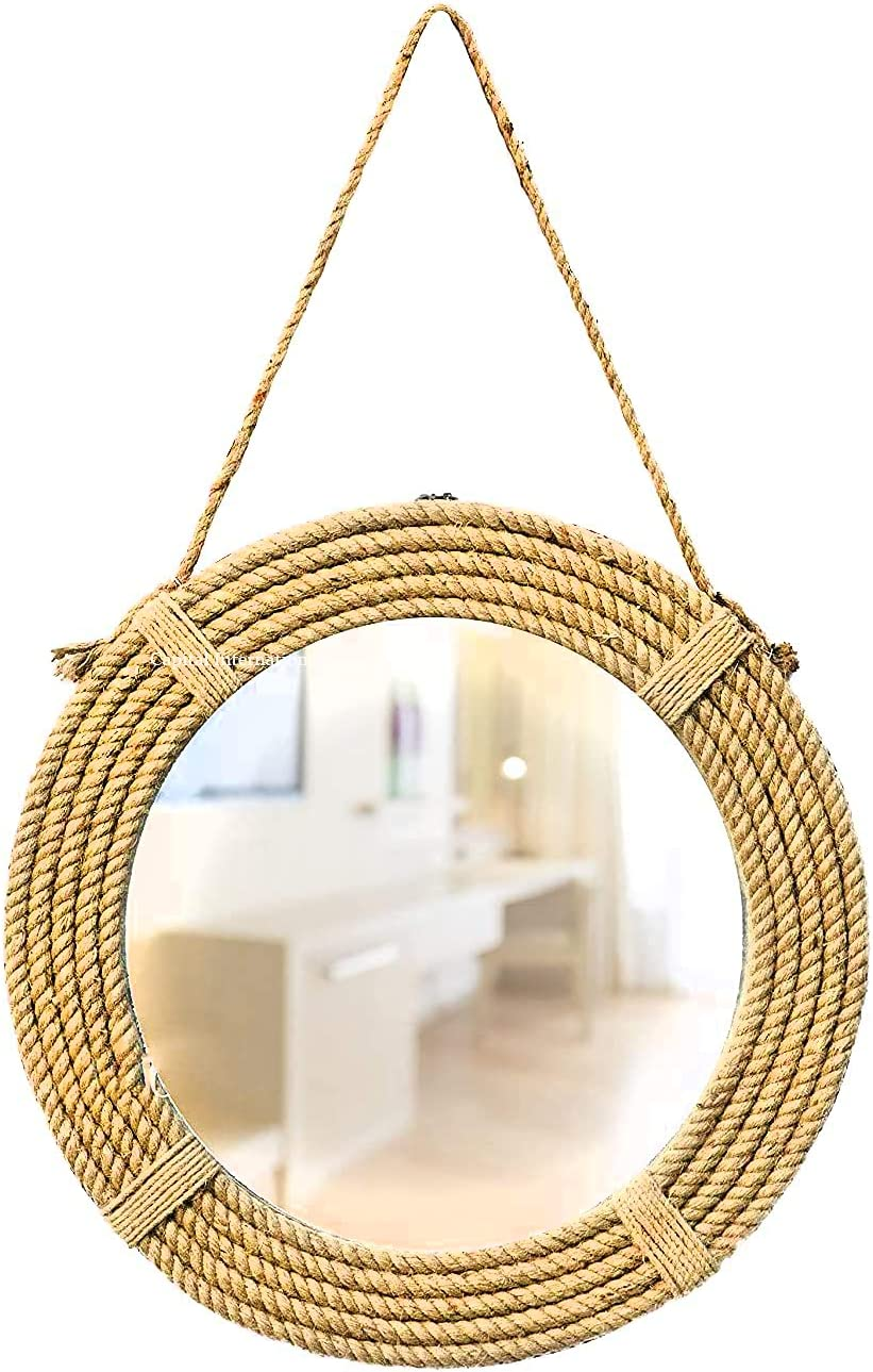 Capital International Wall Mounted Round Mirror Rope Hallway for Ranking TOP2 Fresno Mall