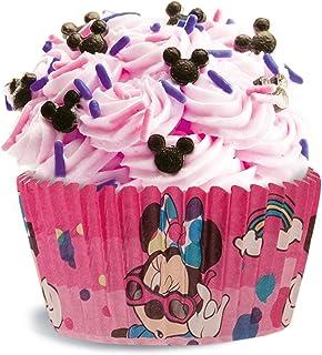 Minnie 339005 Caissette Muffin avec Design du Personnage de Disney Mouse-50 Unités, Papier, Rouge, 5 x 5 x 3 cm