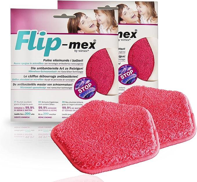 1164 opinioni per Panno Spugna Flip-Mex Microfibra Antibatterica e antiodore con nanoargento.