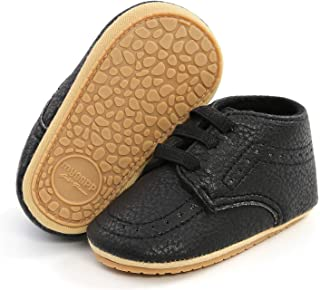 RVROVIC Baby Boys Girls Anti-Slip Sneakers Soft Ankle Boots Toddler First Walkers Newborn Crib Shoes