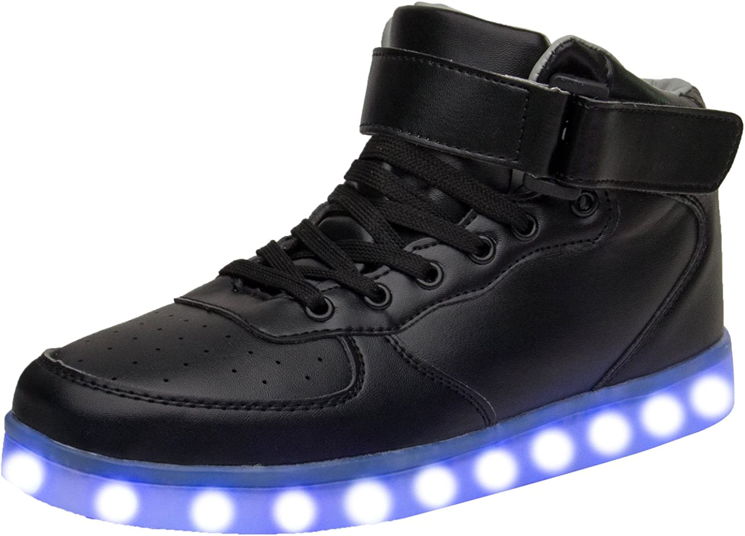 Xi wei hu Unisex USB Charging High Tops Led Light up shoes