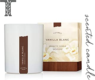 Thymes - Vanilla Blanc Aromatic Scented Candle - Long Lasting Warm Vanilla Scent with Gift Box - 9 oz