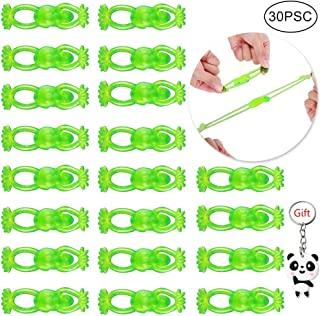 Color Scissor 30 Pieces Slingshot Toy, Rubber Flying Frogs Stretchable Slingshot Frogs for Frog Party