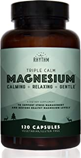 Triple Calm Magnesium - 150mg of Magnesium Taurate, Glycinate, and Malate for Optimal Relaxation, Stress and Anxiety Relie...