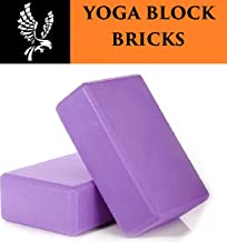Kriva Non-Toxic Rectangle Shaped Gym Fitness Yoga Block Brick Set of 2-1pc (Assorted Color)