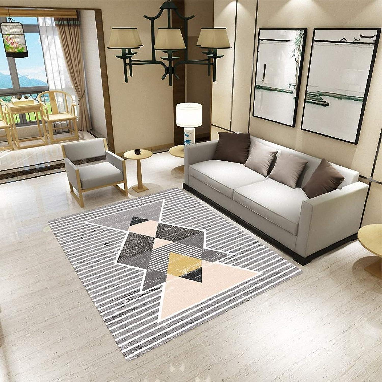 Square Carpet Non-Slip Bedroom Living Room Door mat Bedside Table Coffee Table Sofa Carpet Office Anti-Slip Square pad (color   16, Size   120  160cm)