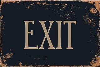 """StickerPirate Exit 8"""" x 12"""" Vintage Aluminum Retro Metal Sign VS486"""