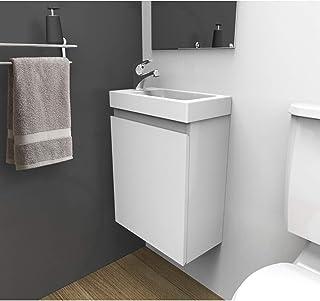 """Lavabo de salle de Bain Set Toilette Wc /""""Aarau/"""" blanc ensemble meuble-lavabo /évier vasque lave-mains armoire de salle de bain"""
