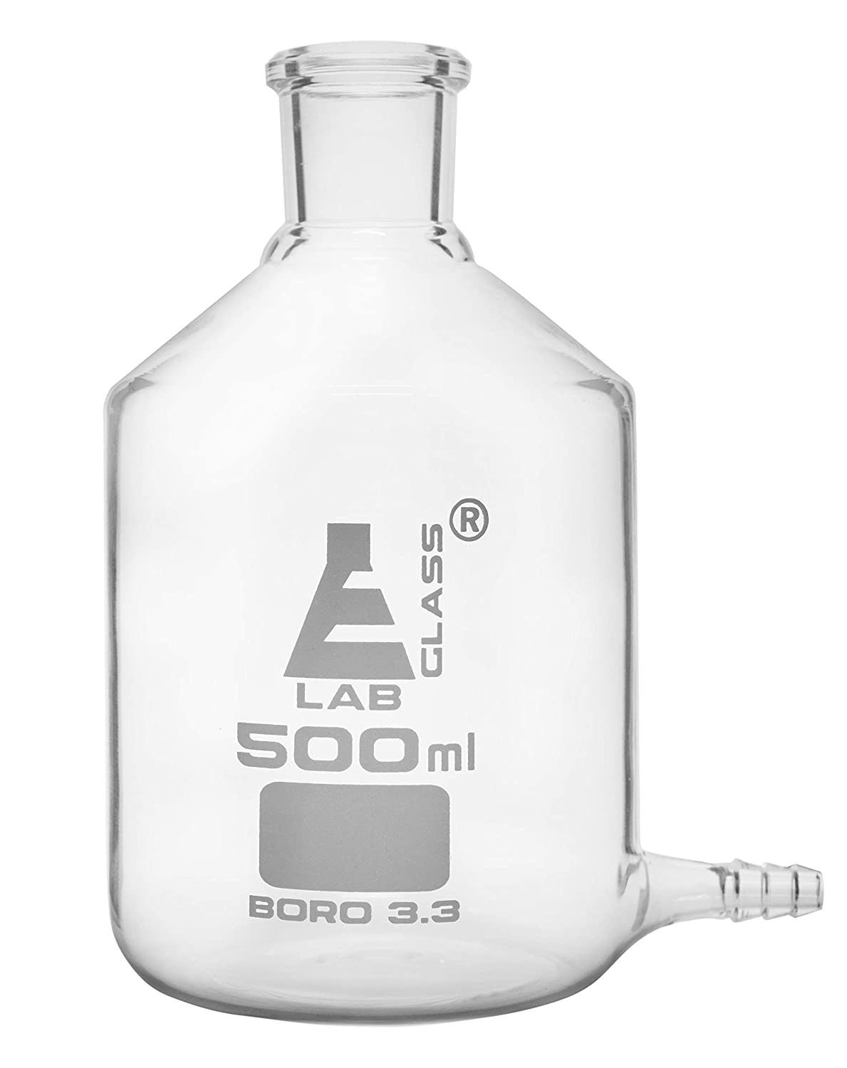 Aspirator Bottle 500ml Limited time trial price Dallas Mall - with Borosilicate Outlet for Tubing