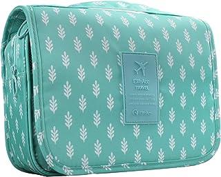 New Hanging Toiletry Bag Bathroom Organizer Travel Nylon Portable Cosmetic Bag for Women and Men (Blue Tree)