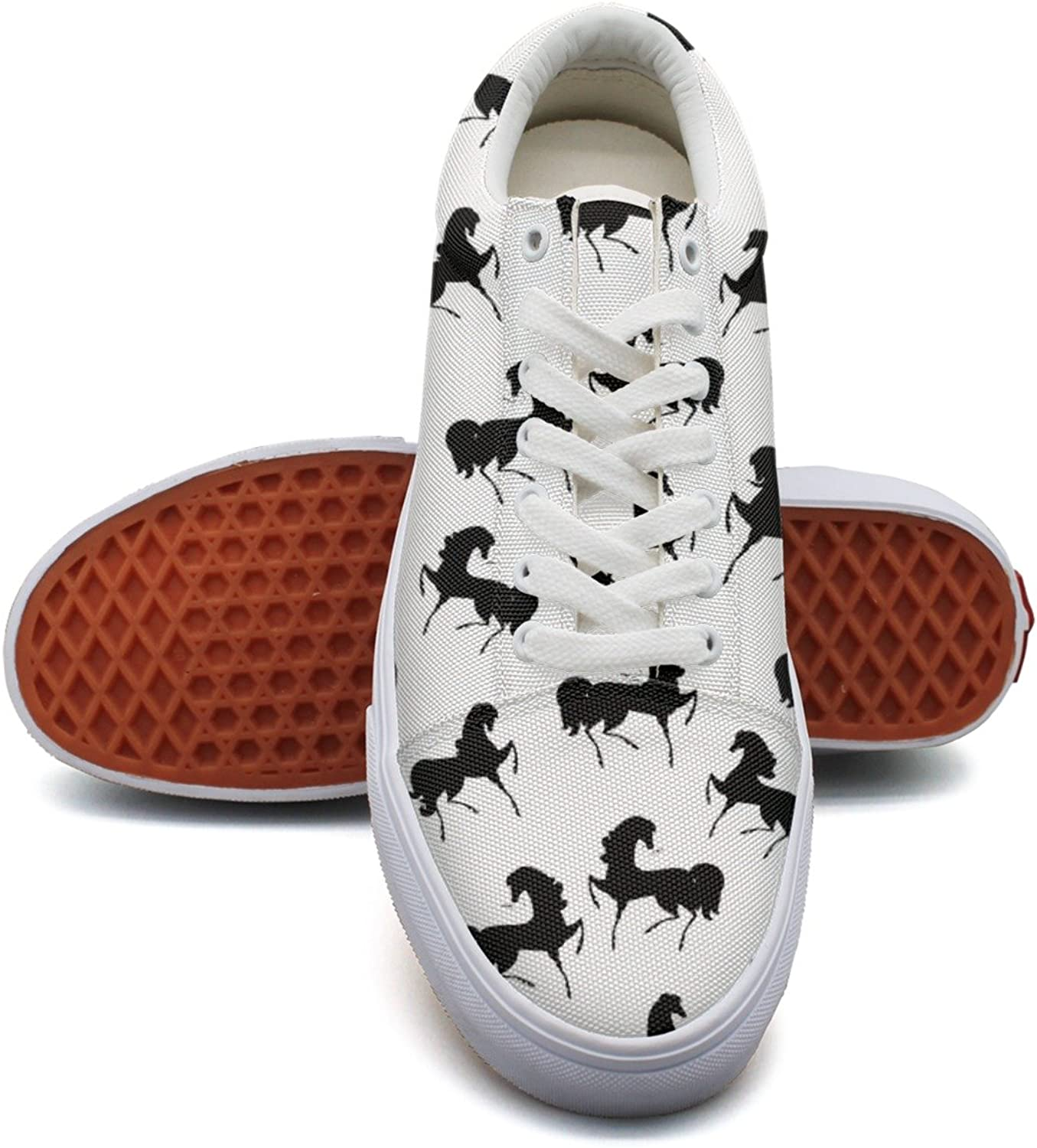 Retro Texture With Horses Women's Casual shoes Canvas Athletic New Gym