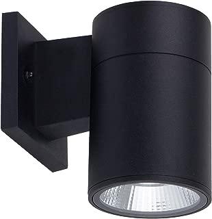 OSTWIN 1-Direction LED Outdoor Cylinder Up or Down Light, 9W (60W Equivalent), 735 Lumen, 5000K Daylight, Modern Light Fixture for Door Way, Corridor, Waterproof, Black, ETL and Energy Star