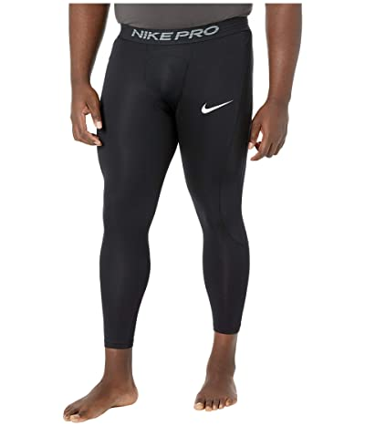 Nike Big Tall Pro 3/4 Tights (Black/White) Men