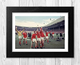 England 1966 World Cup Reproduction Picture Photograph Picture Poster Photo A4 Print(Black Frame)