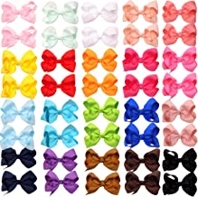 40Pieces Boutique Grosgrain Ribbon Pinwheel 3