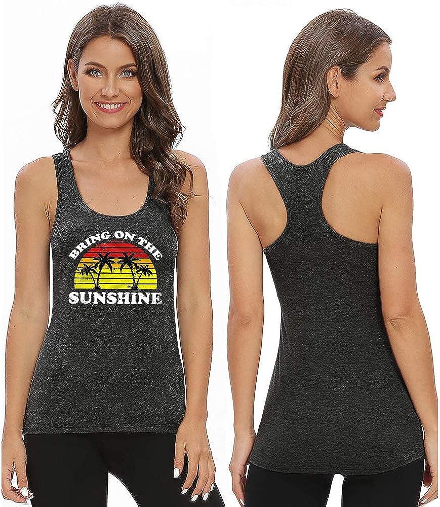 Bealatt Women Bring On The Sunshine Tank Tops Sleeveless Casual Loose Graphic Tee Tops