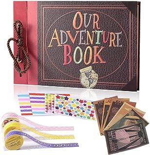 YIHAO Adventure Book Album de FotosLibro de Aventura con Accesoro Maravilloso Our Adventure Scrapbooking DIY Vintage Aniversario Boda Amigos Novios Bebé Regalo único para el cumpleaños
