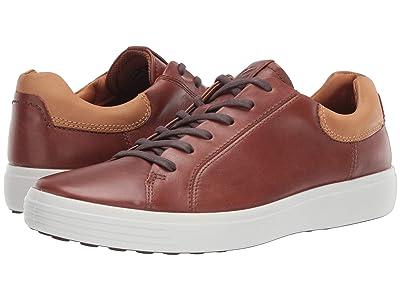 ECCO Soft 7 Street Sneaker (Mahogany/Lion) Men