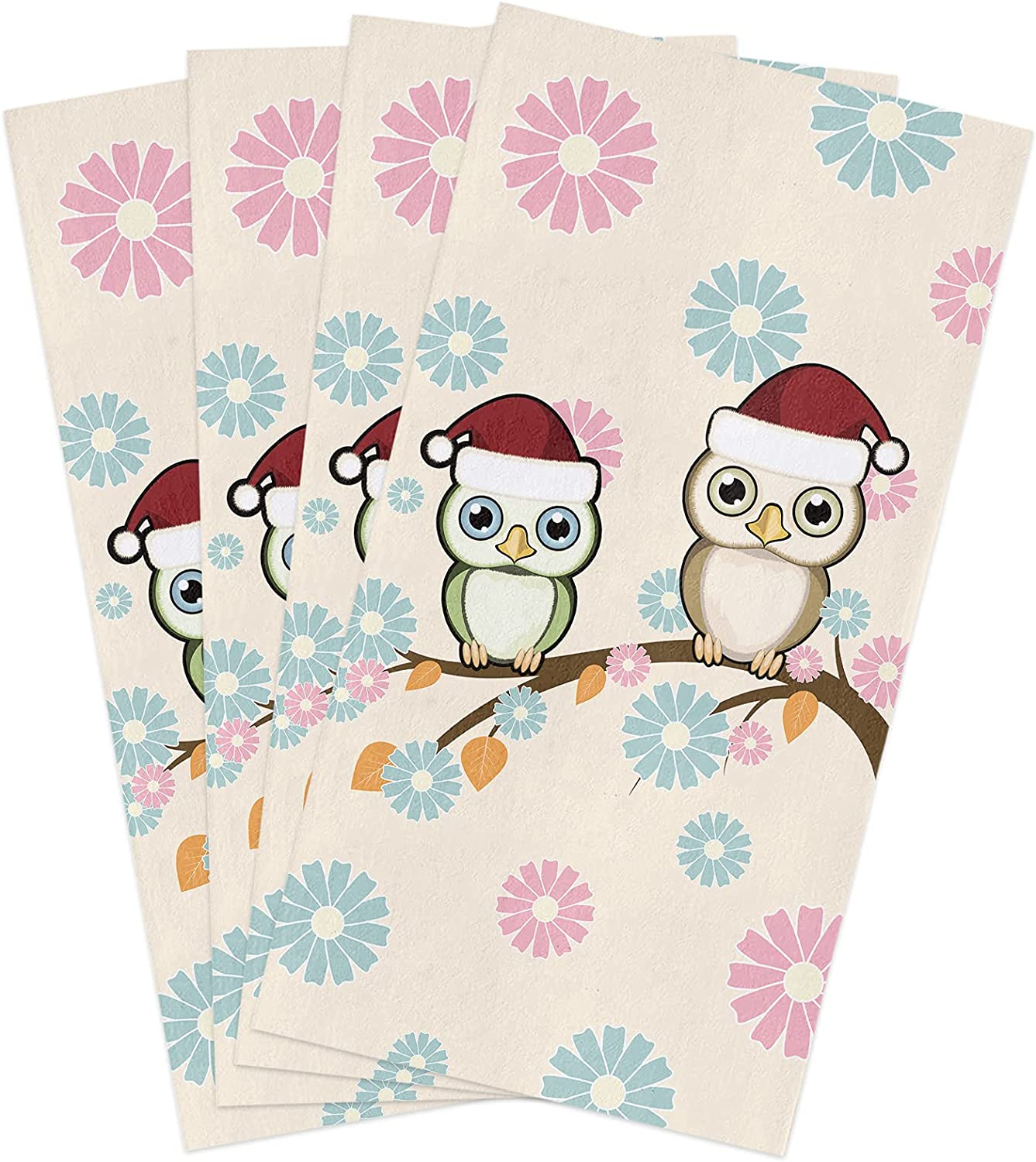 Microfiber Be super Soldering welcome Soft Kitchen Dish Towels Pack of Cu Theme 4 Christmas