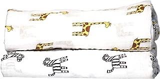 Swaddle Blanket - 2 Pack Newborn Receiving Blanket, Safari Animal Collection (Giraffe & Zebra) Blanket for Newborns - Swaddle Blanket, Swaddle Wrap, Muslin Swaddle, Receiving Blankets