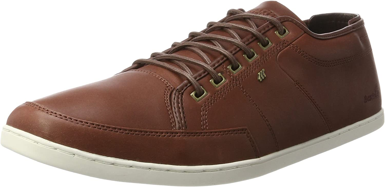 Box Fresh Mens Russet Sparko Leather Trainers