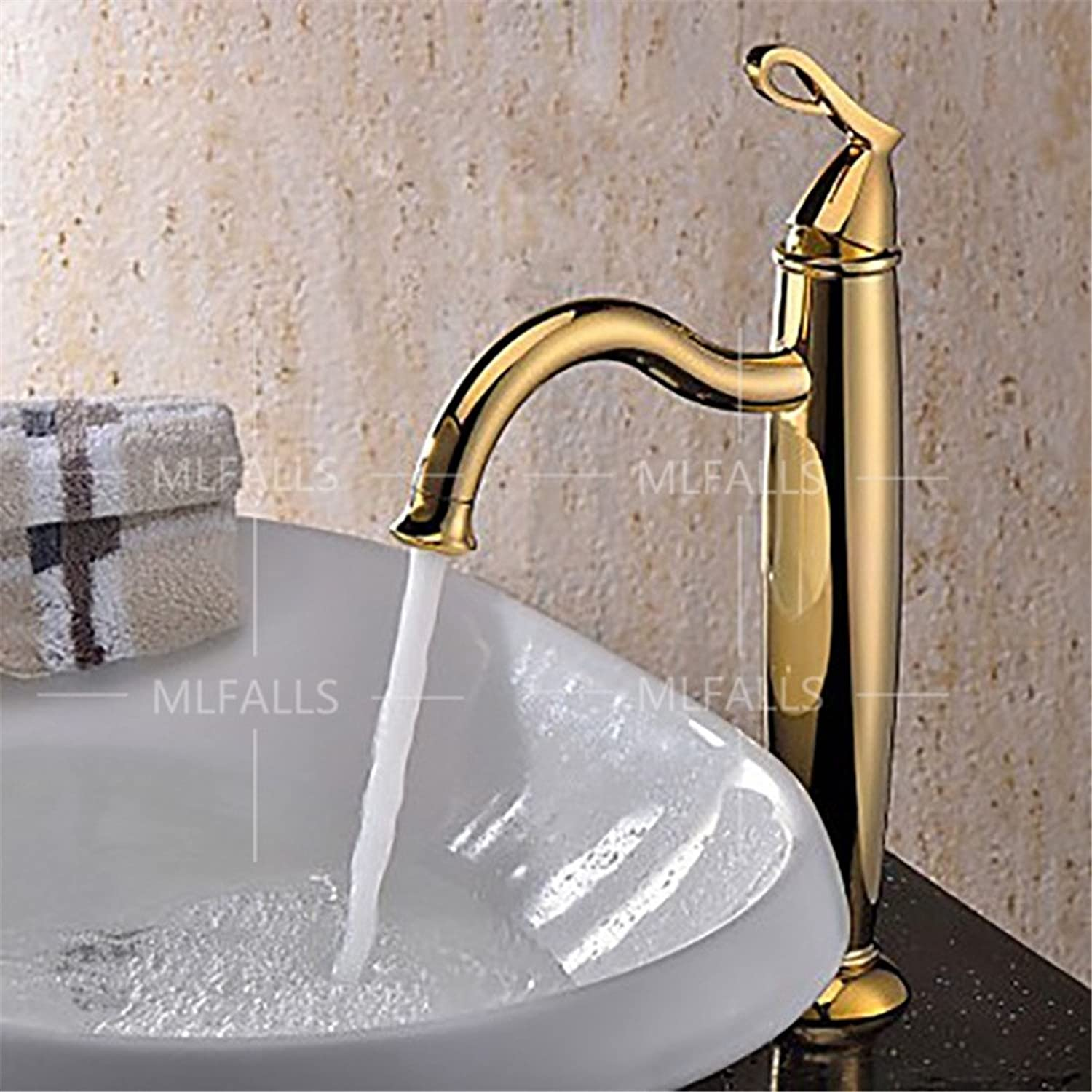 Modern gold Heightening Hot & Cold Mixing Valves Bathroom Basin Faucet   Bathroom Sink Faucet Basin faucet Bathroom Sink Tap with Bathroom Basin Mixer Tap Bathroom Mixer Tap Bathroom Basin Sink Faucet Bathroom basin faucet Bathroom Sink Taps Bathroom Mixe