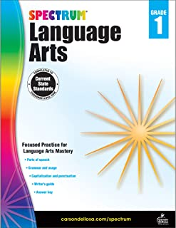 Carson Dellosa – Spectrum Language Arts, Focused Practice for Language Arts Mastery for 1st Grade, 128 Pages, Ages 6–7 with Answer Key