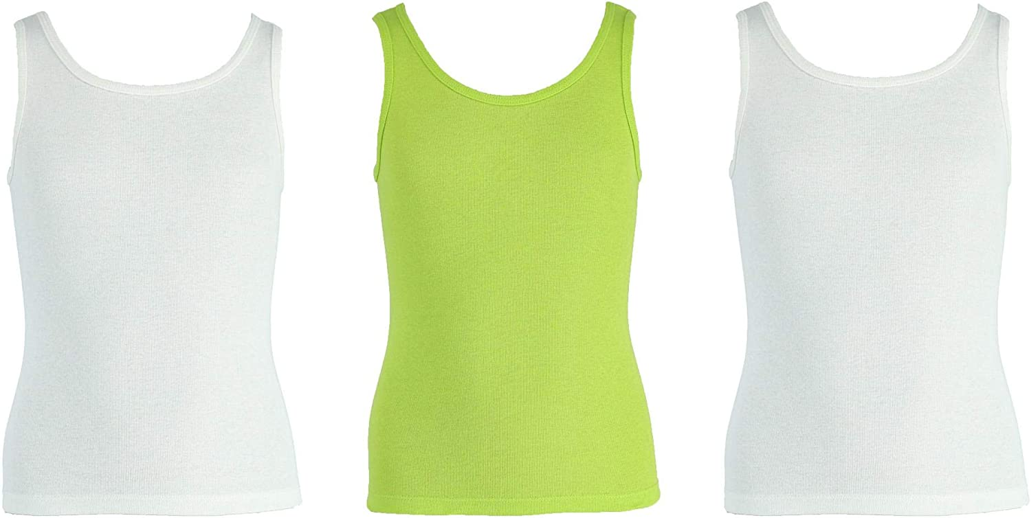 Fruit of the Loom Girls Assorted Cotton Tanks 3-Pack