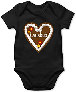 Shirtracer Oktoberfest & Wiesn Baby - Lebkuchenherz Lausbub - Baby Body Kurzarm für Jungen und Mädchen