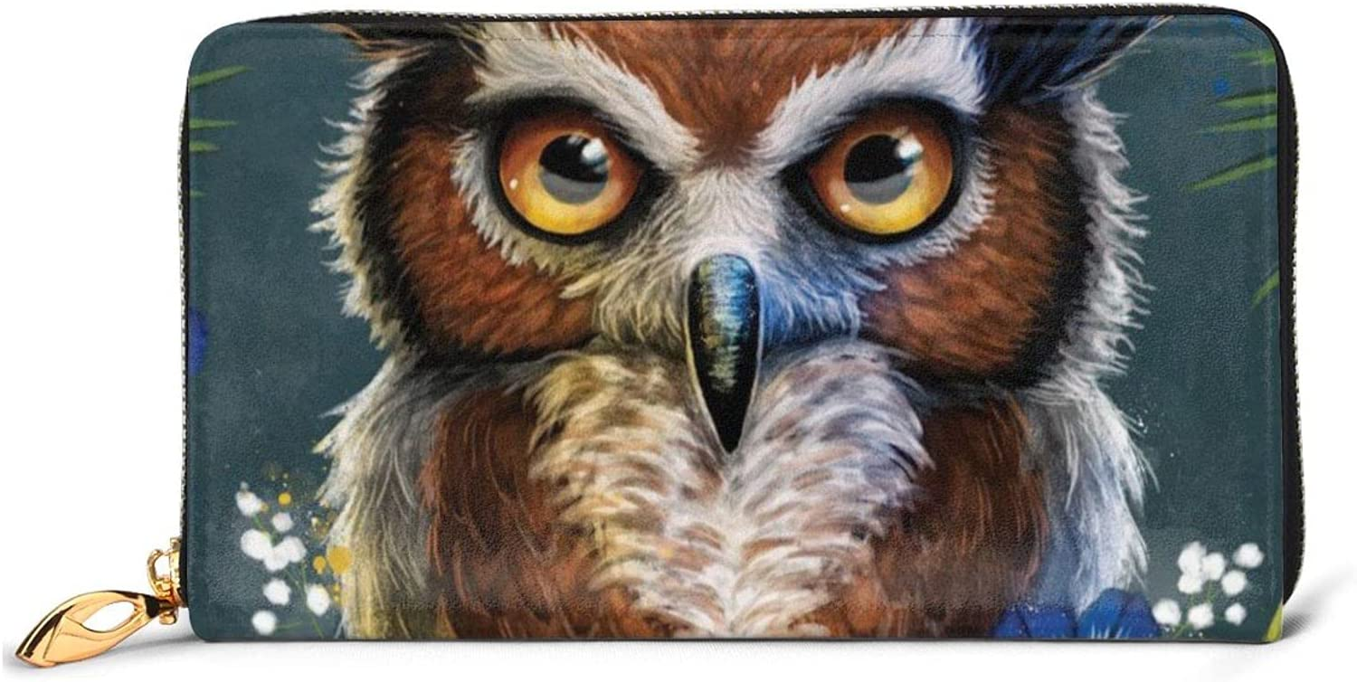 wholesale Owl Leather Wallet Women Long Zip Clutch Bag Travel Be super welcome Around Purse