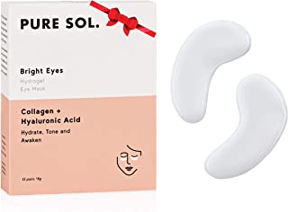 Pure Sol. Hydrogel Collagen Eye Mask with Hyaluronic Acid, Grape Seed extract