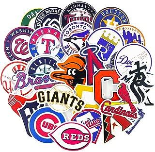 MLB Baseball Team Sports Stickers for Kids Scrapbooking Helmets Tumblers Bike Car Motorcycle Wall Decoration 30pcs