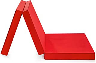 Badenia Bettcomfort Trendlinecon funda de microfibra, área de descanso de 196 x 65 cm, rojo